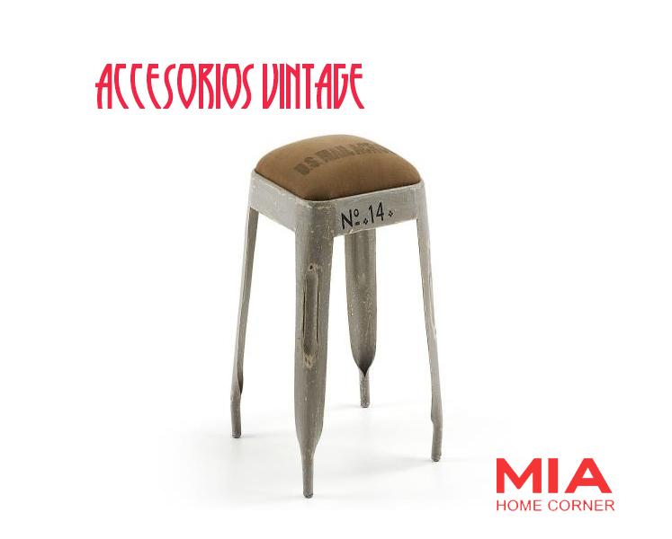 muebles madrid taburete vintage