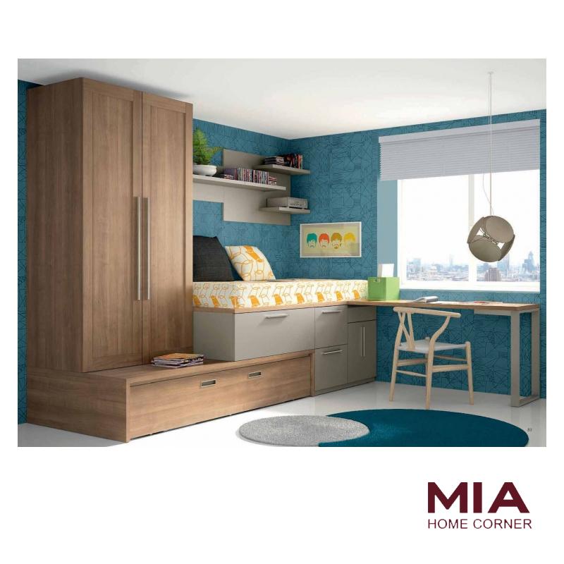 Tienda de muebles madrid 5 habitaciones juveniles for Conjunto dormitorio juvenil