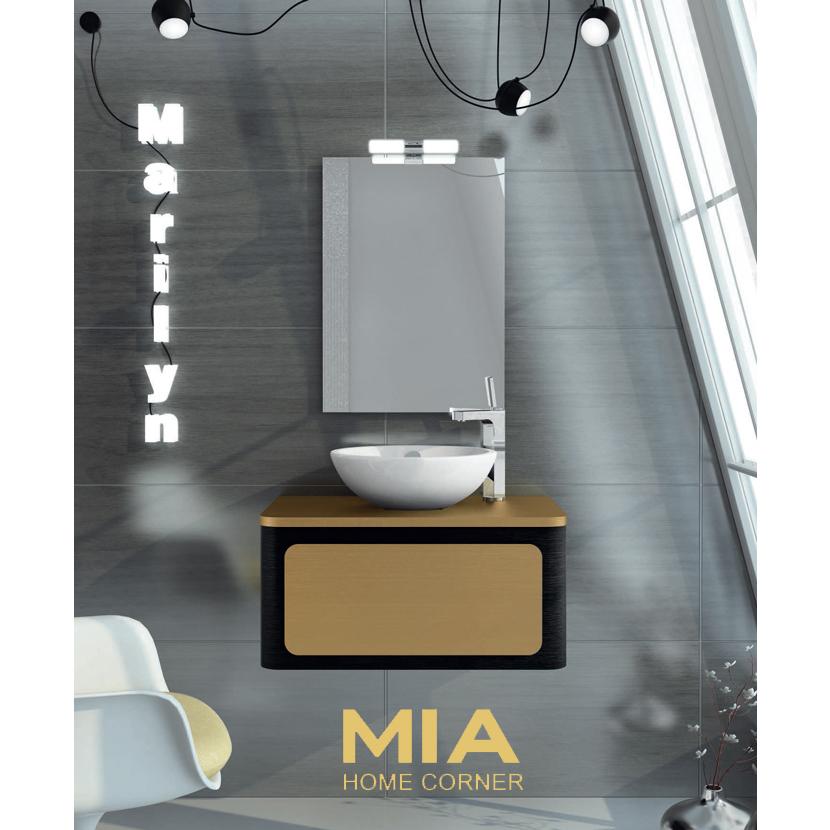 Composicion de muebles para baños Marilyn 4, Coleccion de muebles de baño llena de diseño y relax.