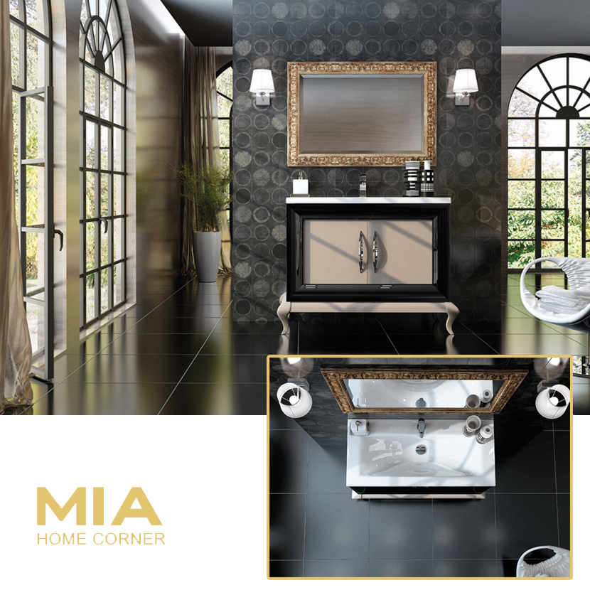 Composicion de muebles para baños Kora 1, Coleccion de muebles de baño llena de alta calidad, diseño y relax.