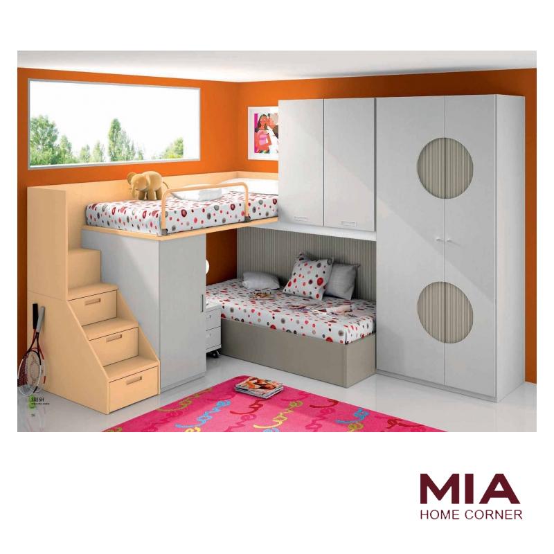 Dormitorio Juvenil Peach | Mia Home Corner Tienda de Muebles Madrid